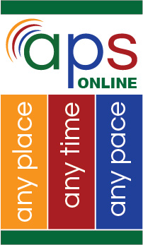 APS online, any place time or pace